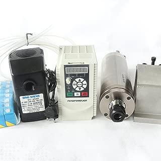 2.2KW Waterproof Water Cooled Spindle Motor ER20 220V Kit & 2.2KW 2HP Inverter VFD & 80mm Clamp Mount & 75W Water Pump & 6M Pipe & 14pcs/Set ER20 Collet for CNC Router Engraving Machine