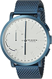 Skagen Men's Hagen Connected Blue Steel-Mesh Hybrid Smartwatch
