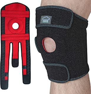 MODVEL Knee Brace Support | Relieves ACL, LCL, MCL, Meniscus Tear, Arthritis, Tendonitis Pain | Open Patella Dual Stabilizers | Joint Pain Relief
