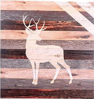 P. Graham Dunn Standing Buck Deer Rustic 18 x 17 Wood Pallet Wall Art Sign Plaque