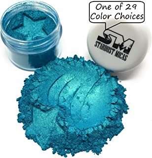 Pigment Powder Stardust Micas Cosmetic Grade Colorant for Makeup, Soap Making Dyes, Nails, DIY Crafting Projects, Bright True Colors Stable Mica Batch Consistency Blue Lagoon