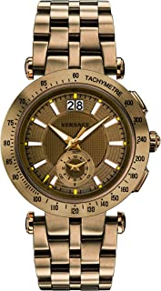 Men's 'V-Race' Swiss Quartz Stainless Steel Casual Watch, Color:Bronze-Toned (Model: VAH060016)