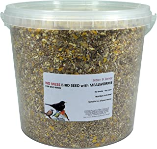 Britten & James All in One High Protein No Mess wild bird seed WITH ADDED MEALWORMS. Feed freely all year round and especi...