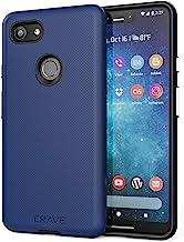 Crave Pixel 3 XL Case, Dual Guard Protection Series Case for Google Pixel 3 XL - Navy