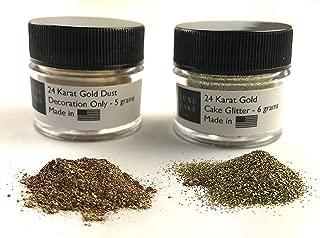 (2 Pack) 24 Karat Gold Luxury Diamond Dust (24K Gold Set), 11 grams total, USA Made
