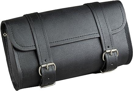 Fuel Helmets SH-BARBAG Handlebar Bag with Leather Shell, Black