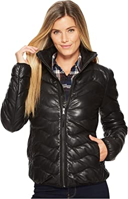 Sydney Touch of Class Ladies Leather Ribbed Jacket
