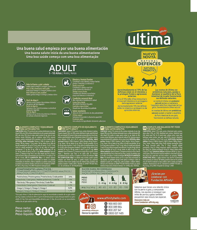 800 gr ultima Pienso para Gatos Adultos con Pollo y Arroz