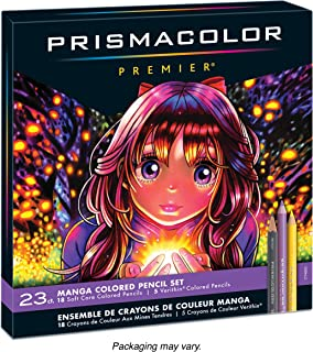 Prismacolor 1774800 Premier Colored Pencils, Manga Colors, 23-Count