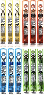 Pearson Ranch Assorted Grass Fed Game Meat Snack Sticks – Variety Pack of 12 – (1oz Sticks, 3 Each) – Elk, Buffalo, Venison, Wild Boar Game Jerky - Gluten-Free, MSG-Free, Keto and Paleo Friendly