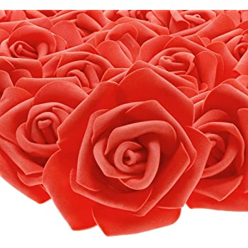 100 RED /& WHITE FLOWERS FOR CARDS OR CRAFTS