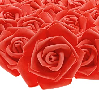 Juvale Rose Flower Heads - 100-pack Artificial Roses