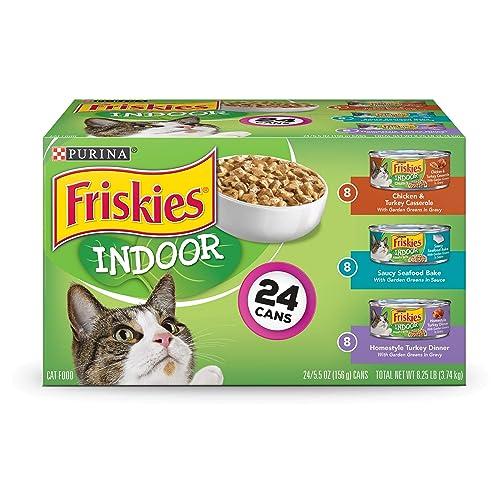 Purina Friskies Indoor Adult Wet Cat Food Variety Pack - (24) 5.5 Oz.