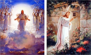 Wall Decor Picture Jesus Christ at The Door and Second Coming of Jesus Christ Two Set Religious and Spiritual Art Print Poster (8x10)
