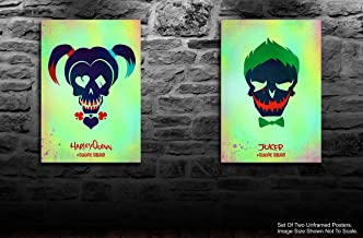 Tamatina Set of 2 Hollywood Movie Poster - Harley Quinn - Joker - Suicide Squad - Fan Art - HD Posters for Room