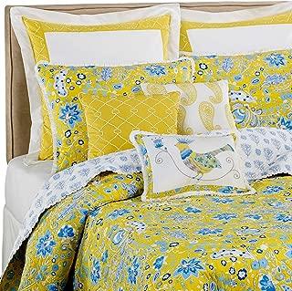 Dena Home Pavillion Euro Pillow Sham, White/Yellow
