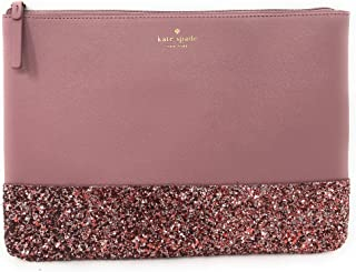 Leather Glitter Gia Greta Street Clutch Bag Pink