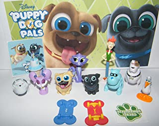 Playful Toys Disney Puppy Dog Pals Deluxe Figure Set of 14 Toy Kit with 12 Figures Including 2 Skateboards, Sticker and PAW Tattoo Featuring Bingo, Rolly, Robot ARF and All Their Friends!