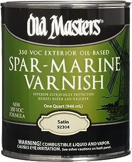 OLD MASTERS 92304 Spar Marine Varnish, Satin