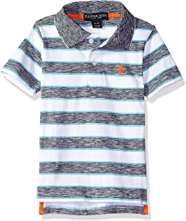 Boys' Short Sleeve Striped Polo Shirt