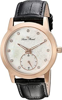 Swiss Legend Women's 'Noureddine' Quartz Stainless Steel and Black Leather Casual Watch (Model: LP-40037-RG-02MOP)