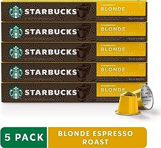 Starbucks by Nespresso, Blonde Roast Espresso (50-count single serve capsules, compatible with Nespresso Original Line System)
