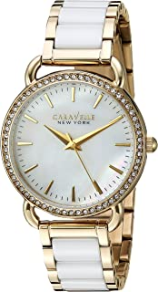 Caravelle New York Women's Stainless Steel and Ceramic Watch, Color:Two Tone (Model: 44L172)