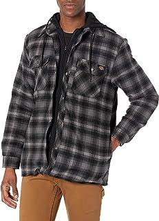 Men's Relaxed Fleece Hooded Flannel Shirt Jacket