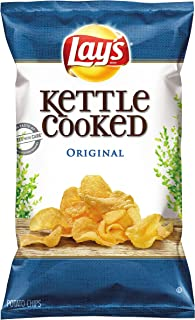 Lay's Kettle Cooked Chips, Original, 32 Ounce (Pack of 4)