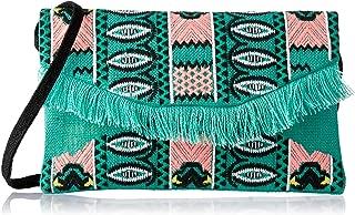 zoda Women's Daja Clutch, Green/Pink, One Size