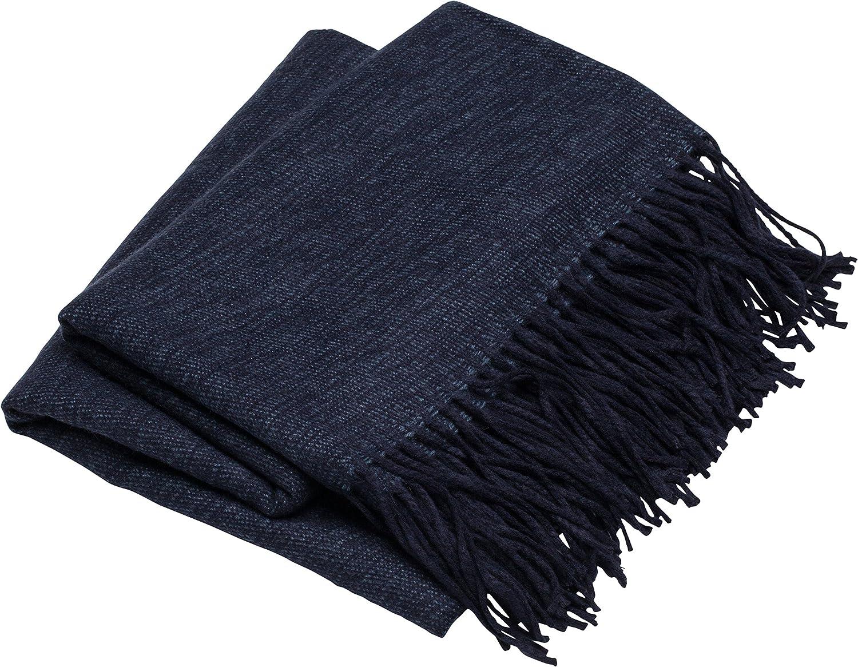 SLPR Decorative Regular dealer Soft Navy Complete Free Shipping Throw Blanket Blue 50