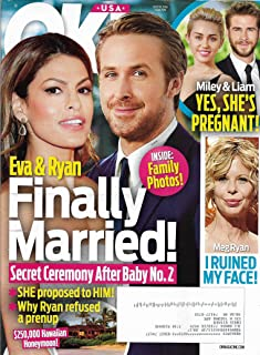 Eva Mendes & Ryan Gosling l Miley Cyrus & Liam Hemsworth l Meg Ryan l Mariah Carey l Taylor Swift & Tom Hiddleston - July 18, 2016 OK!