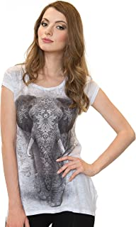 Sweet Gisele Elephant Inspired Beautiful 3D Womens Tunic T-Shirt w/Rhinestones