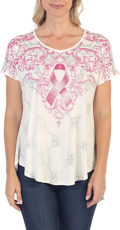 Breast Cancer Victorian Print Shirt