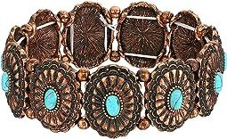 Western Concho Turquoise Bracelet