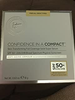 IT COSMETICS CONFIDENCE IN A COMPACT SKIN-TRANSFORMING FULL COVERAGE SOLID SUPER SERUM SPF 50+ UVA/UVB Shade Rich (Rich)