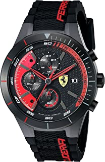 Ferrari Men's 0830260 REDREV EVO Analog Display Quartz Black Watch