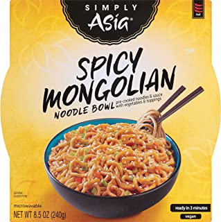 Simply Asia Spicy Mongolian Noodle Bowl, 8.5 oz (Pack of 6)