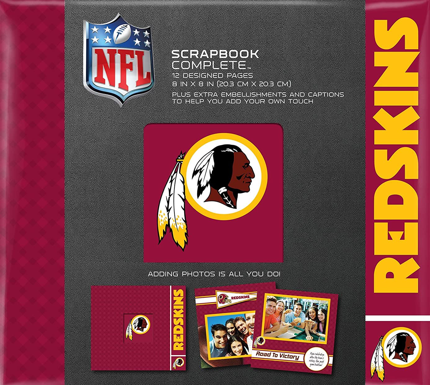 C.R. Gibson Scrapbook Complete Kit, Small, Washington Redskins (N878549M)