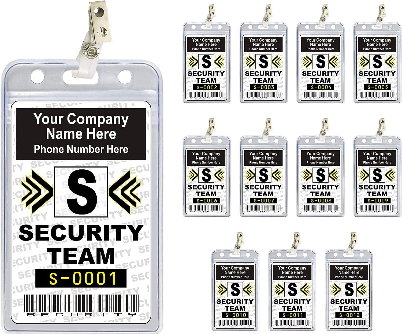 online shop Long Beach Mall Security Team ID Cards Badges Set {Custom - PVC Plastic pcs 12