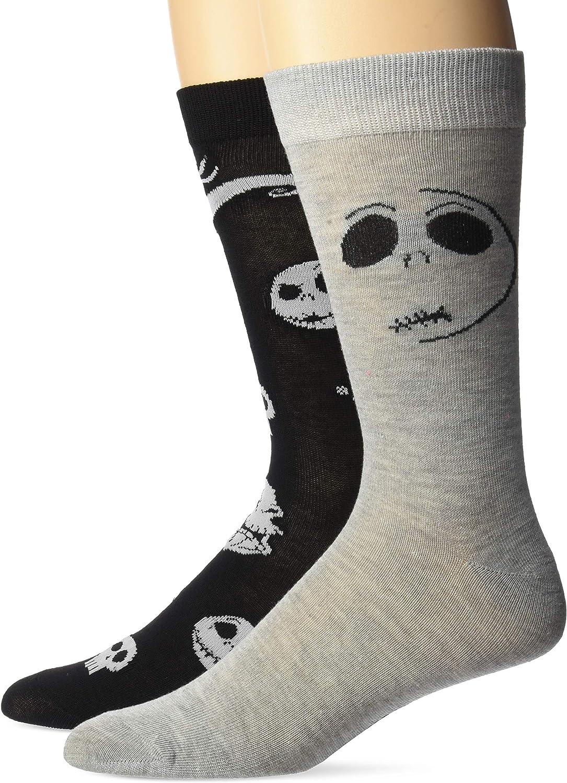 Disney Nightmare Before Christmas Men's 2 Pack Crew Socks
