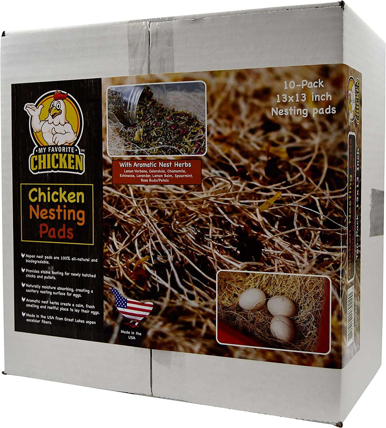 At service the price Chicken Nesting Pads with Aromatic Herbs Excelsio Natural Nest