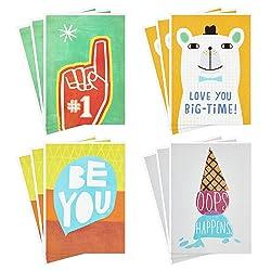 Hallmark Kids Encouragement Cards Assortment (Pack of 12 Cards with Envelopes)