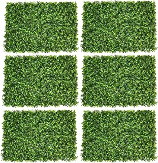 Artiflr 6Pack Artificial Boxwood Hedge Panels,UV Protected Faux Greenery Fence Panels Mats for Privacy Fence Patio,Greenery Walls Indoor Outdoor Decor,16