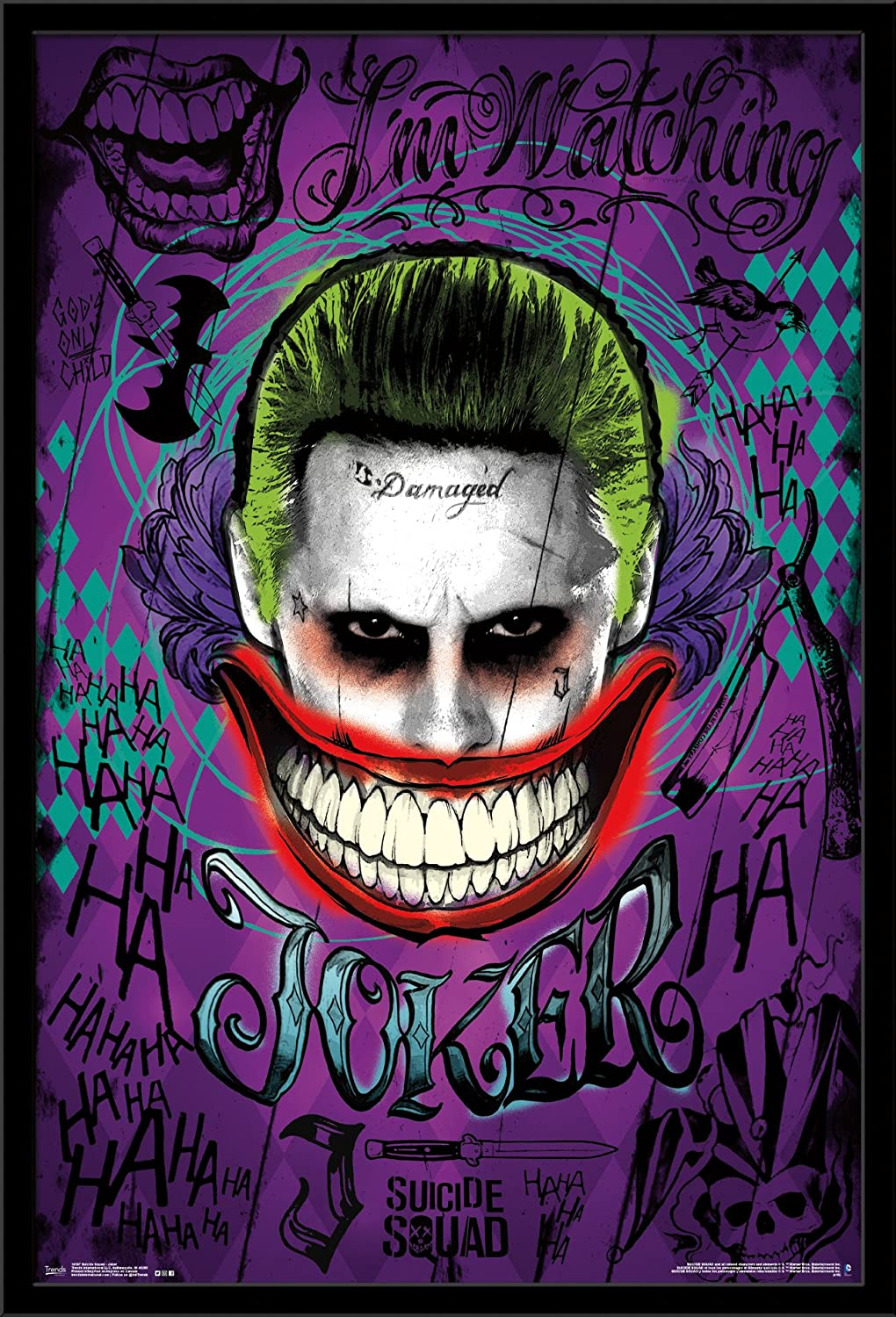 Trends International Wall Poster Suicide Squad Joker, 22.375 x 34