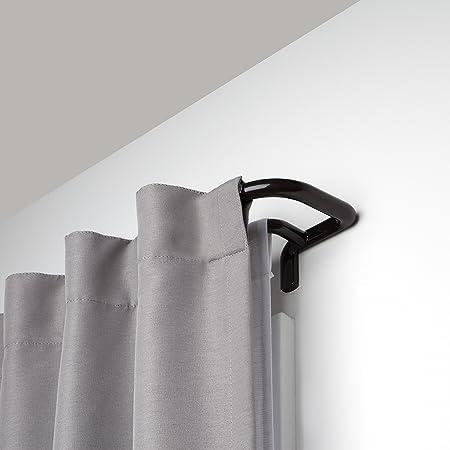 Umbra Twilight Double Curtain Rod Set – Wrap Around Design is Ideal for Blackout or Room Darkening Panels, 88-144 Inch (224-366cm), Dark Bronze