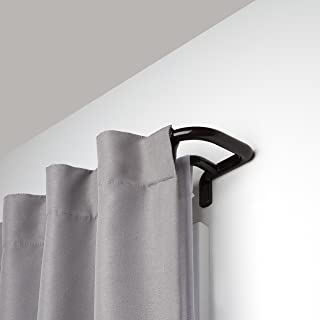 Umbra, Auburn Bronze Twilight Double Rod Set – Wrap Around Design is Ideal for Blackout Room Darkening Curtains, 88 to 144 Inch, 144-Inch