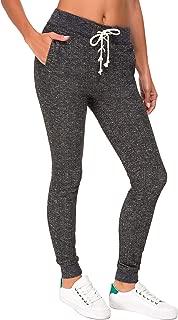 JINYIC Women's Drawcode Jogger Sweatpants with Pockets (Black2, L)
