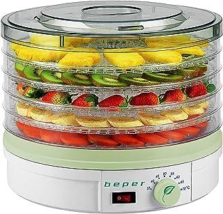 comprar comparacion Beper Deshidratador de frutas 90.506 blanco, Temperatura Ajustable 245W