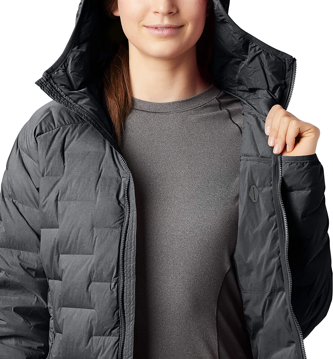Climbing and Everyday Mountain Hardwear Super//DS Hooded Women/'s Insulated Jacket for Hiking Camping